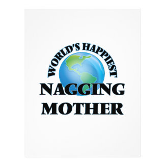 World's Happiest Nagging Mother 21.5 Cm X 28 Cm Flyer