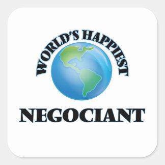 World's Happiest Negociant Square Sticker