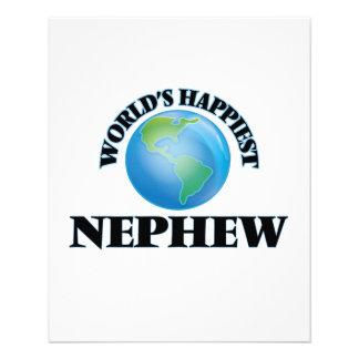 World's Happiest Nephew 11.5 Cm X 14 Cm Flyer