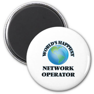 World's Happiest Network Operator 6 Cm Round Magnet