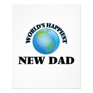 World's Happiest New Dad 11.5 Cm X 14 Cm Flyer
