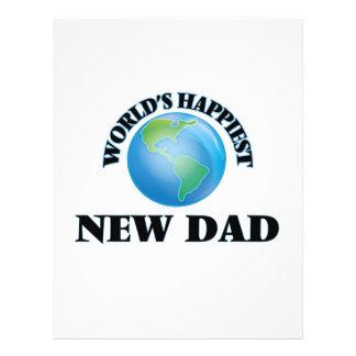 World's Happiest New Dad 21.5 Cm X 28 Cm Flyer