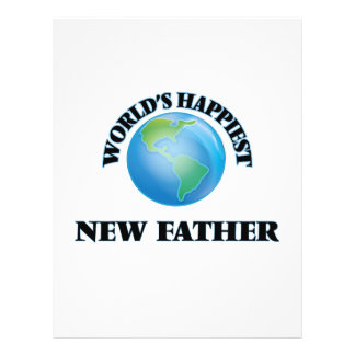 World's Happiest New Father 21.5 Cm X 28 Cm Flyer