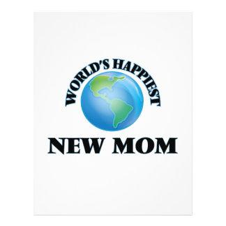 World's Happiest New Mom 21.5 Cm X 28 Cm Flyer