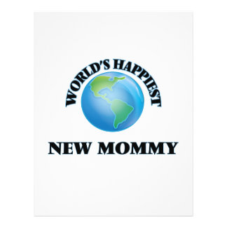 World's Happiest New Mommy 21.5 Cm X 28 Cm Flyer
