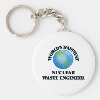 World's Happiest Nuclear Waste Engineer Basic Round Button Keychain