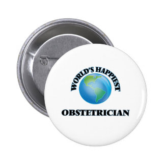 World's Happiest Obstetrician 6 Cm Round Badge