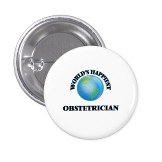 World's Happiest Obstetrician 3 Cm Round Badge