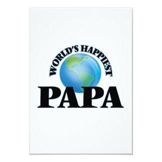 World's Happiest Papa 9 Cm X 13 Cm Invitation Card