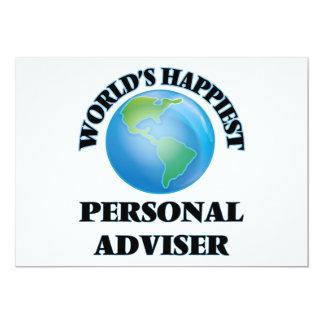 "World's Happiest Personal Adviser 5"" X 7"" Invitation Card"