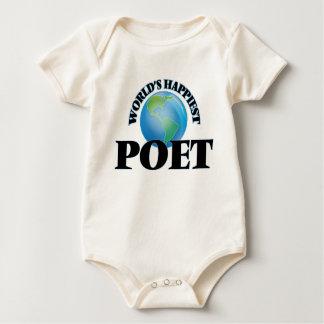 World's Happiest Poet Baby Bodysuits