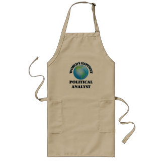 World's Happiest Political Analyst Long Apron