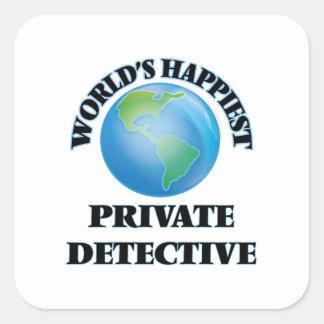 World's Happiest Private Detective Square Sticker