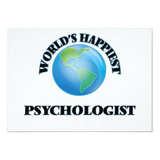 "World's Happiest Psychologist 5"" X 7"" Invitation Card"