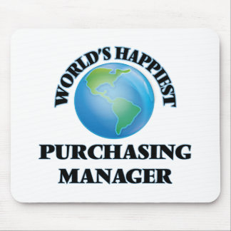 World's Happiest Purchasing Manager Mouse Pad