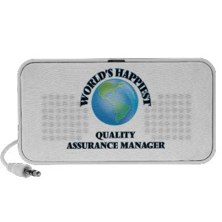 World's Happiest Quality Assurance Manager PC Speakers