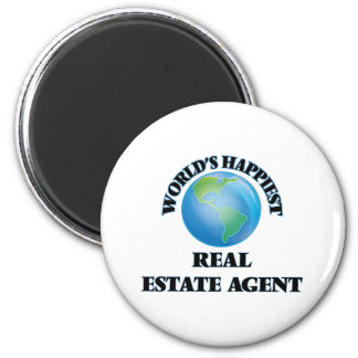 World's Happiest Real Estate Agent 6 Cm Round Magnet