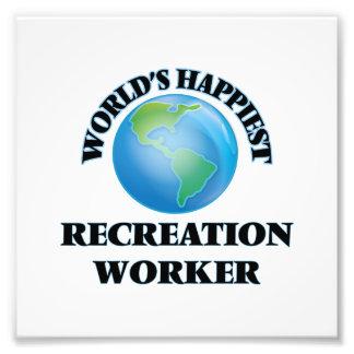 World's Happiest Recreation Worker Photo Print