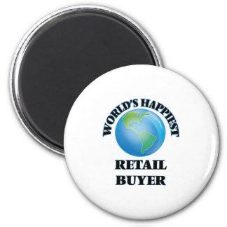 World's Happiest Retail Buyer 6 Cm Round Magnet