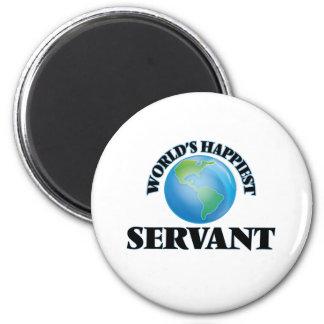 World's Happiest Servant 6 Cm Round Magnet