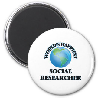 World's Happiest Social Researcher 2 Inch Round Magnet