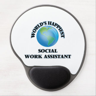 World's Happiest Social Work Assistant Gel Mouse Pad