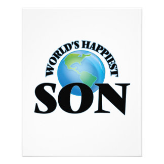 World's Happiest Son 11.5 Cm X 14 Cm Flyer