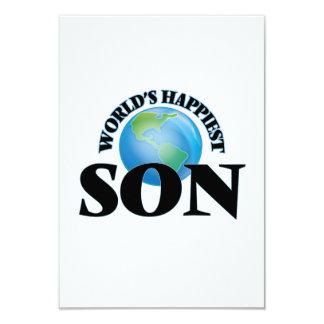 World's Happiest Son 9 Cm X 13 Cm Invitation Card