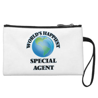 World's Happiest Special Agent Wristlet Clutches