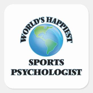 World's Happiest Sports Psychologist Square Sticker
