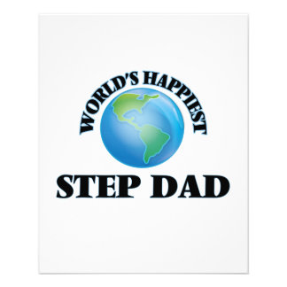World's Happiest Step-Dad 11.5 Cm X 14 Cm Flyer