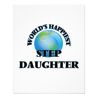 World's Happiest Step-Daughter 11.5 Cm X 14 Cm Flyer