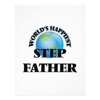 World's Happiest Step-Father 21.5 Cm X 28 Cm Flyer