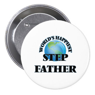 World's Happiest Step-Father 7.5 Cm Round Badge