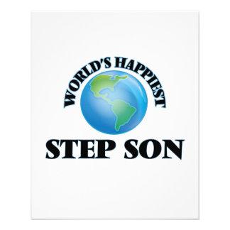 World's Happiest Step-Son 11.5 Cm X 14 Cm Flyer