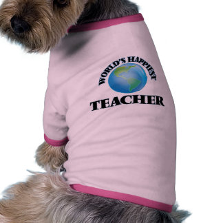 World's Happiest Teacher Ringer Dog Shirt