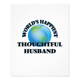 World's Happiest Thoughtful Husband 11.5 Cm X 14 Cm Flyer