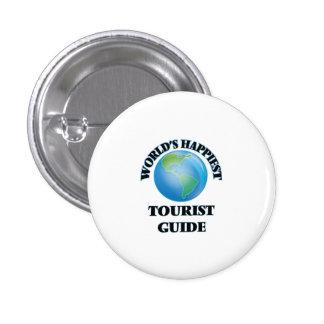 World's Happiest Tourist Guide 3 Cm Round Badge
