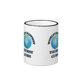 World's Happiest Tourist Guide Ringer Mug