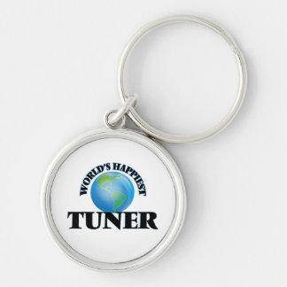World's Happiest Tuner Silver-Colored Round Keychain