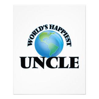 World's Happiest Uncle 11.5 Cm X 14 Cm Flyer