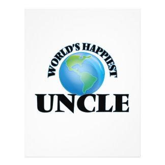 World's Happiest Uncle 21.5 Cm X 28 Cm Flyer