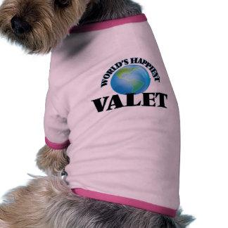 World's Happiest Valet Ringer Dog Shirt