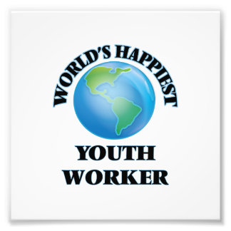 World's Happiest Youth Worker Photo Print