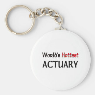 Worlds Hottest Actuary Basic Round Button Key Ring