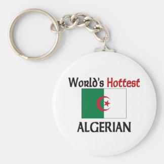 World's Hottest Algerian Basic Round Button Key Ring