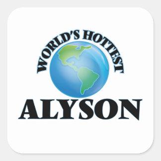 World's Hottest Alyson Square Sticker