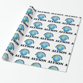 World's Hottest Alyson Wrapping Paper