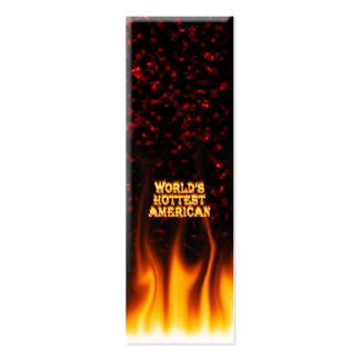 World's Hottest American fire and flames red marbl Double-Sided Mini Business Cards (Pack Of 20)