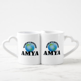 World's Hottest Amya Lovers Mug Set